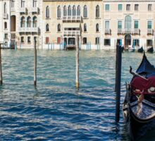 Venice, Italy - Traditional Venetian Gondolas on the Grand Canal Sticker