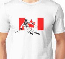 Canadian Alpine Ski Unisex T-Shirt