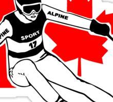 Canadian Alpine Ski Sticker