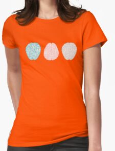 Brainy Pastel Pattern Womens Fitted T-Shirt