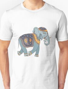 Colorful Tribal Paisley Elephant Pattern T-Shirt