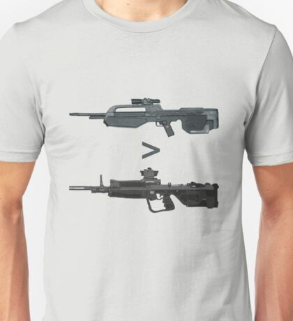 BR > DMR. Unisex T-Shirt