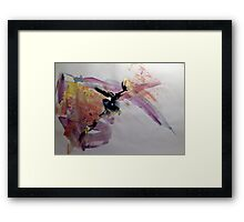 """Original Art Large Wall Art - """"Erection 299"""" - Modern Abstract Expressionism Painting  Framed Print"""