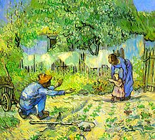First Steps by Vincent van Gogh by naturematters
