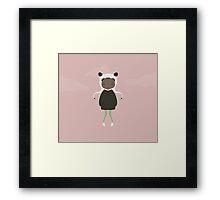 Gracie in Pink Framed Print