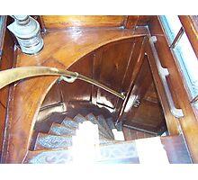 The steps inside Elissa Sailboat in Galveston Texas Photographic Print