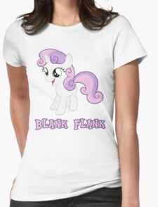 Sweetie Belle Blank Flank Womens Fitted T-Shirt