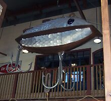 Huge Fishing Lure at the Fisherman's Whorf in Galveston Texas by aweddingtheme