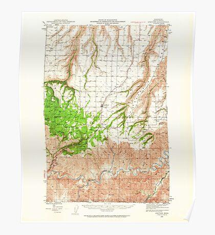 USGS Topo Map Washington State WA Anatone 239819 1944 62500 Poster