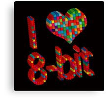 i heart 8 - Bit Canvas Print