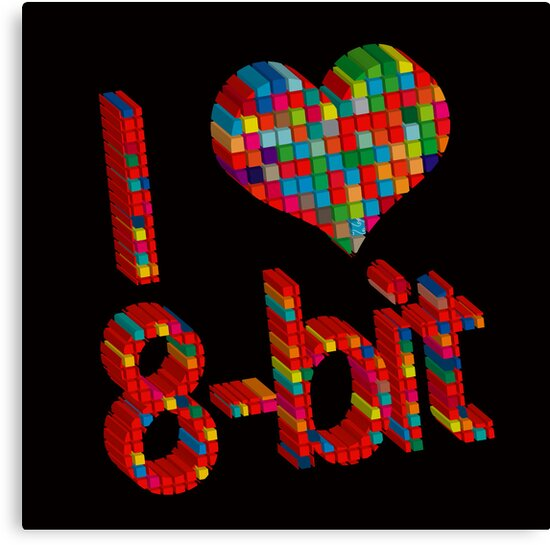 i heart 8 - Bit by frederic levy-hadida