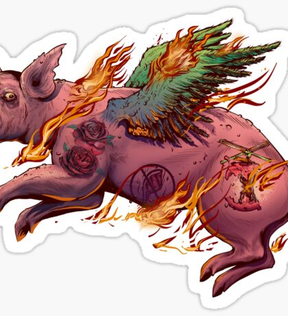 Porky Panic Sticker