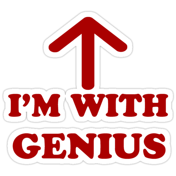 I'm With Genius Red Version by saviorum