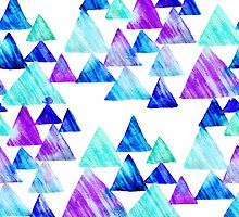 Watercolor Triangles by Yuliya Shora