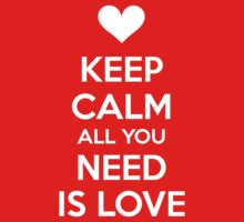 Keep calm all you need is love Kids Tee