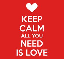 Keep calm all you need is love T-Shirt