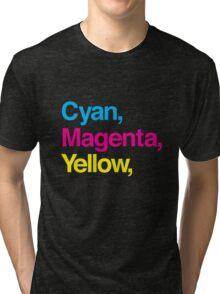 Cyan, Magenta, Yellow & Black Tri-blend T-Shirt