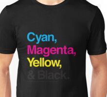 Cyan, Magenta, Yellow & Black Unisex T-Shirt