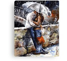 Rainy day 18 - Love in the rain Canvas Print