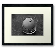 Table seven Framed Print