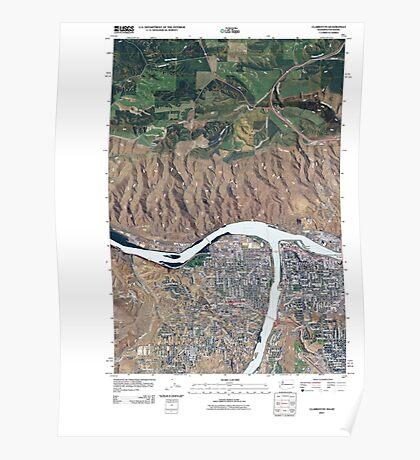 USGS Topo Map Washington State WA Clarkston 20110406 TM Poster