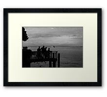 Waiting to sail Framed Print