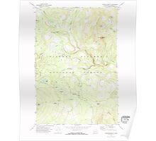USGS Topo Map Washington State WA Sleeping Beauty 243778 1970 24000 Poster