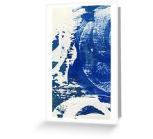 Lunar-blue Greeting Card