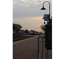 Sunrise from the Berwyn, IL train station Photographic Print