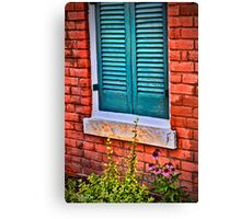 Shuttered in Olde Towne Canvas Print