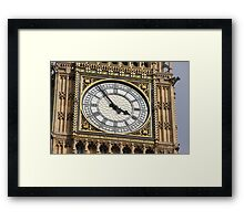 THE GREAT CLOCK OF WESTMINSTER Framed Print