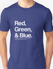 Red, Green & Blue (White) T-Shirt