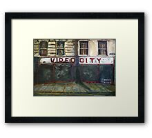 Video City Framed Print