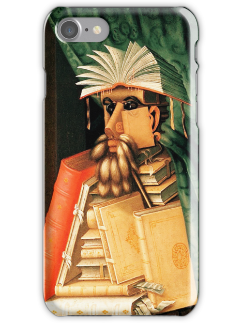 The Book Man iPHONE Case by Pamela Phelps