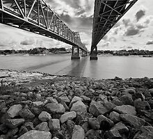 Natchez Bridges by Peter Denniston
