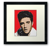 Elvis Presley - Pop Art Portrait Framed Print