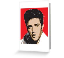 Elvis Presley - Pop Art Portrait Greeting Card