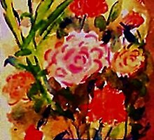 Rose Bouquet, watercolor by Anna  Lewis