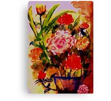 Rose Bouquet, watercolor Canvas Print