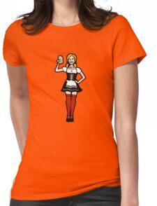 Oktoberfest frau sexy dirndl bier beer Womens Fitted T-Shirt