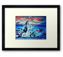 There is beauty above and below, watercolor Framed Print