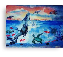 There is beauty above and below, watercolor Canvas Print