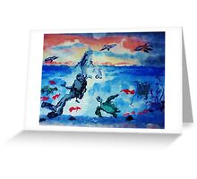 There is beauty above and below, watercolor Greeting Card