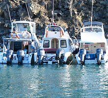 Three boats. by Anne Scantlebury