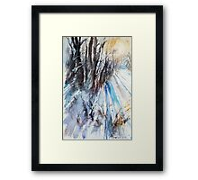 Winter Sun at the Forest Framed Print