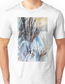 Winter Sun at the Forest Unisex T-Shirt