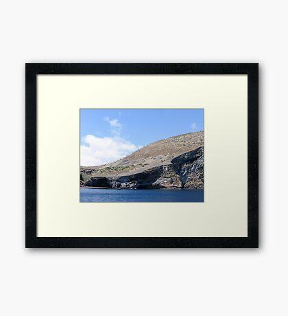 Galapagos landscape. Framed Print