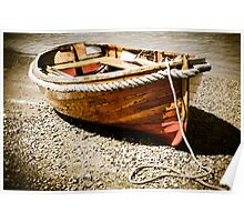 Row Boat on the Beach Poster