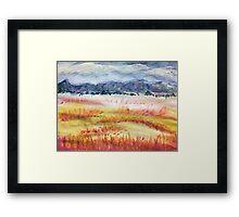 The Grasslands, watercolor Framed Print