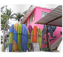 Surfboards. Poster
